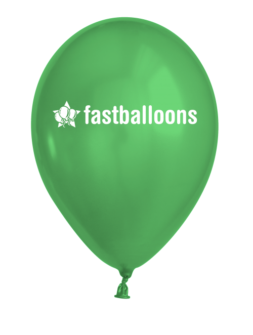 Metallic Green Balloons