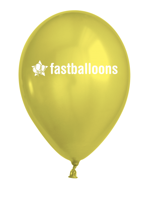 Metallic Yellow Balloons