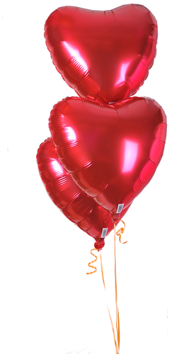 Heart Shaped Foil Balloons